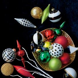 Festive Fashion Ornament Collection, Set of 20
