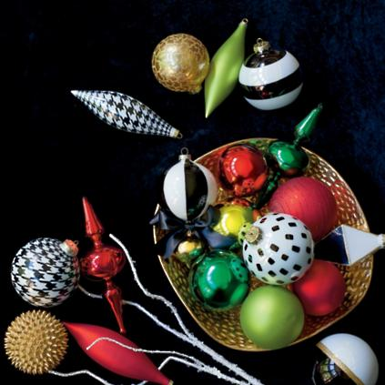 Festive Fashion Ornament Collection Set of 20  Grandin Road