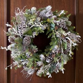 Frosted Winter Cordless Wreath