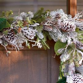 Frosted Winter Cordless Garland