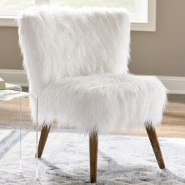Gypsy Faux Fur Chair and Ottoman