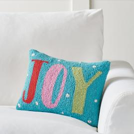 Merry and Bright Joy Hook Pillow