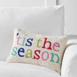 Merry and Bright Hook Pillow, Tis the Season