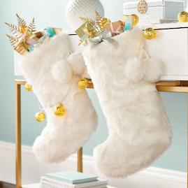 Faux Fur Stocking & Tree Skirt