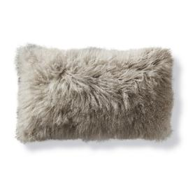 Mongolian Fur Lumbar Decorative Pillow