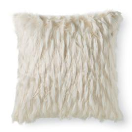 Faux Fur Peacock Feather Euro Sham