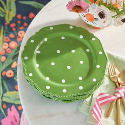 Polka Dot Dinner Plates Set of Four : spotty dinner plates - pezcame.com