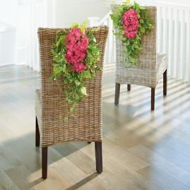 Haley Hydrangea Chair Swags, Set of Two