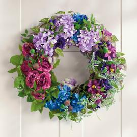 Blue Blooms Wreath
