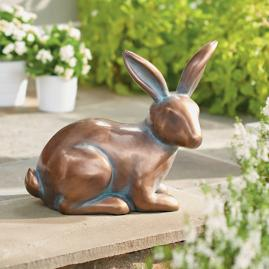 Sitting Copper Garden Bunny