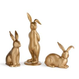 Gold Bunnies, Set of Three