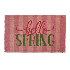 """Hello Spring"" Door Mat"