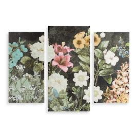 Bloom Triptych Wood Art