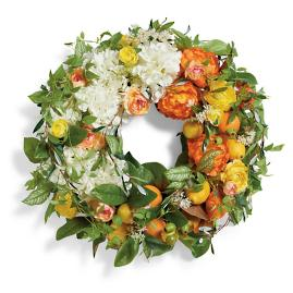 Citrus Floral Wreath