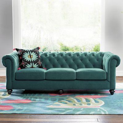 Iris Apfel Tufted Velvet Sofa Grandin Road
