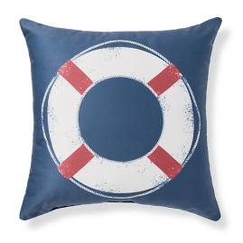 Hampton Life Preserver Outdoor Pillow