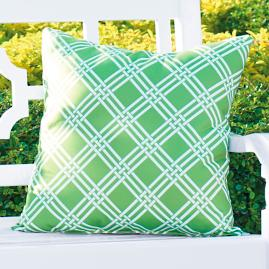 Mila Clio/Green Outdoor Pillow