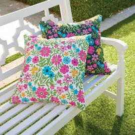 Mila Easton/White Outdoor Pillow