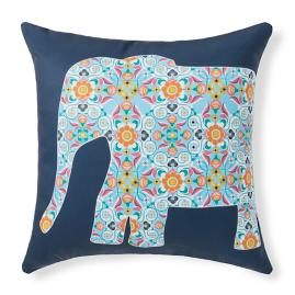 Harlow Ellie/Navy Outdoor Pillow