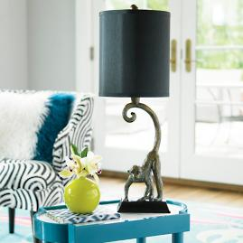 Iris Apfel Monkey Table Lamp