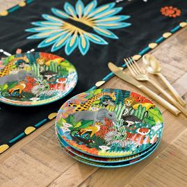 Iris Apfel Jungle Print Dessert Plates, Set of