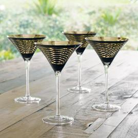 Iris Apfel Snakeskin Martini Glasses, Set of Four