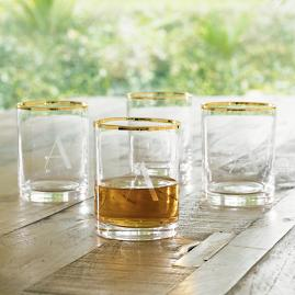 Iris Apfel Personalized Whiskey Glasses, Set of Four