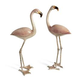 Flamingo Statues, Set of Two