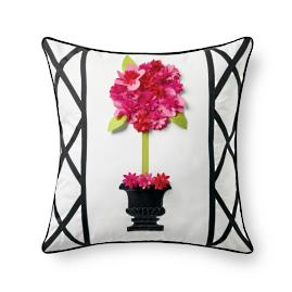 Topiary Outdoor Pillow, Pink