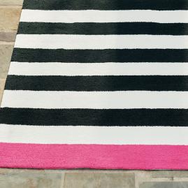 Felicity Border Stripe Outdoor Rug