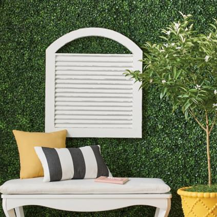 Arched Shutter Outdoor Wall Decor Grandin Road