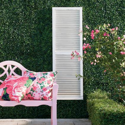 Tall shutter outdoor wall decor