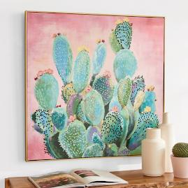 Blooming Cactus Wall Art