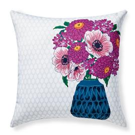 Coralia Fresh Bouquet Outdoor Pillow