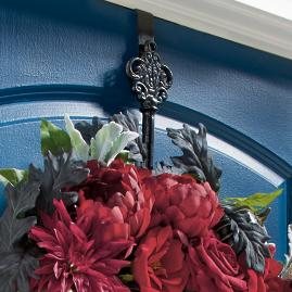 Cast Iron Key Wreath Hanger