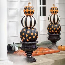 Halloween Pumpkin Topiary