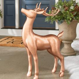 Copper Outdoor Standing Deer