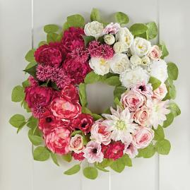Floral Ombre Wreath