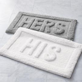 Word Bath Rug, His & Hers