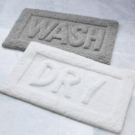 Word Bath Rug, Wash & Dry