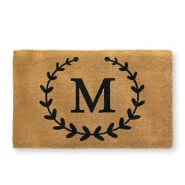 Laurel Monogram Coir Door Mat