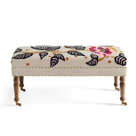 Linnet Embroidered Bench