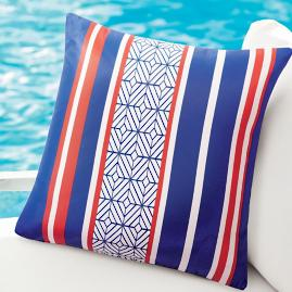Geometric Stripe Outdoor Pillow