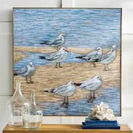 Cloudy Day Gulls Wall Art