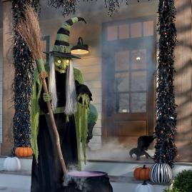 Animated Wilma Witch with Broom