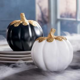 Gold Jeweled Pumpkin