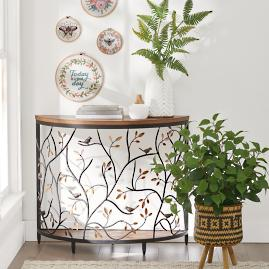 Bird Barrel Console Table