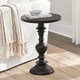 Drake Carved Accent Table - Brown