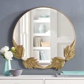 Gold Fern Leaf Mirror