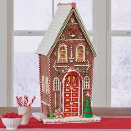 Gingerbread House with LED, Large